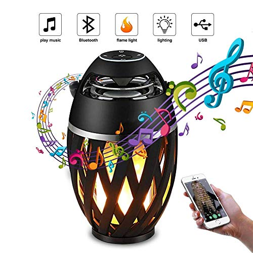 11xero Flame Bluetooth Speaker with Led Light Waterproof Fm Radio Stereo Sound Built in Mic Compatible with Android, iOS and Windows Devices (Black)