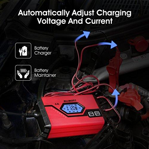 suaoki chargeur de batterie pour voiture 4 amp res 6 12v mainteneur intelligent et. Black Bedroom Furniture Sets. Home Design Ideas