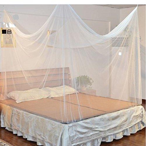 CAMPITO Feinmaschiges Kasten- Moskitonetz- Perfekter Insektenschutz Mückenschutz zu Hause u. auf Reise (Weiß)