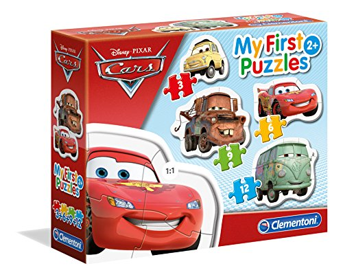 Clementoni 20804 - 3, 6, 9, 12 My First Puzzles Cars
