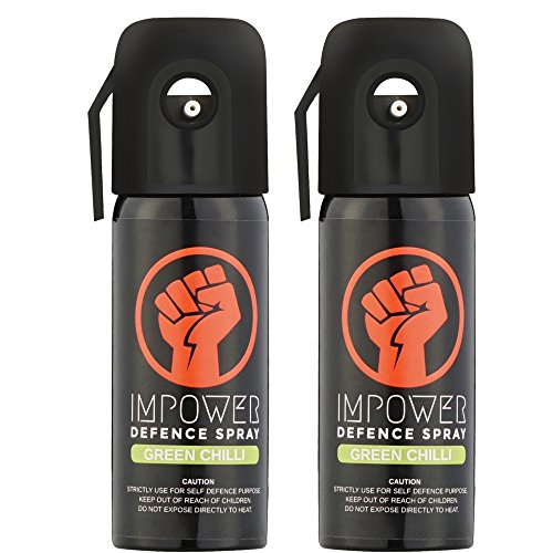 Impower Self Defence Green Chilli Spray for Women and Men - 50 g (Pack of 2)