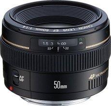 Canon EF 50mm f/1.4 USM - Objetivo para Canon (distancia focal fija 55mm, apertura f/1.4, diámetro: 58mm) color negro