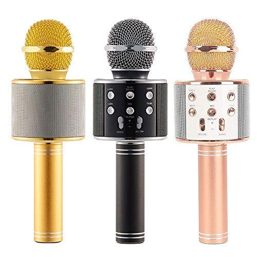 Plugmatic Handheld Wireless Microphone With Bluetooth HiFi Speaker For All IOS/Android Smartphones With Multi Voice Remix (Microphone For Kids Singing Colour May Vary- 1 pic)