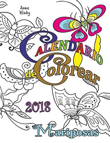 Calendario de Colorear 2018 Mariposas