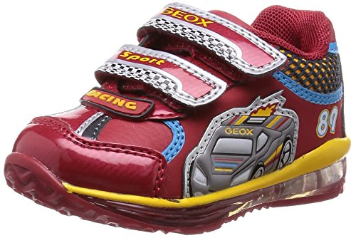 Geox - B Todo Boy B, Scarpine primi passi Bambino, Multicolore (red/yellow), 20