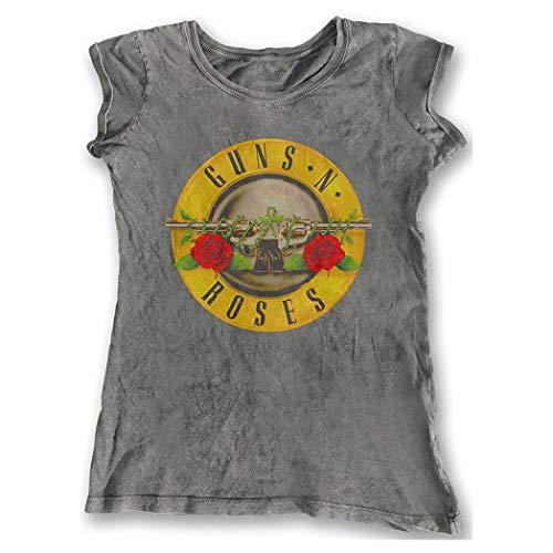 Guns N Roses - Camiseta - para Mujer Gris Gris 36