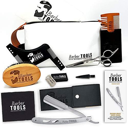 BARBER TOOLS  Kit/Set / Cofanetto per la cura e manutenzione della barba e radersi