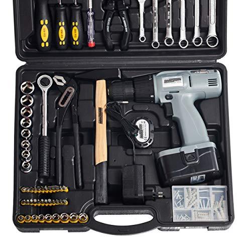 Mallette à outils Mannesmann, 75 pièces avec tournevis sans fil 18 V, M17975 (Import Allemagne)