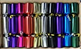 Catering / Bulk Buy Pack of 50 x 8.5 inch Bright Metallic Christmas Crackers by Crackers Ltd (Cat F1)