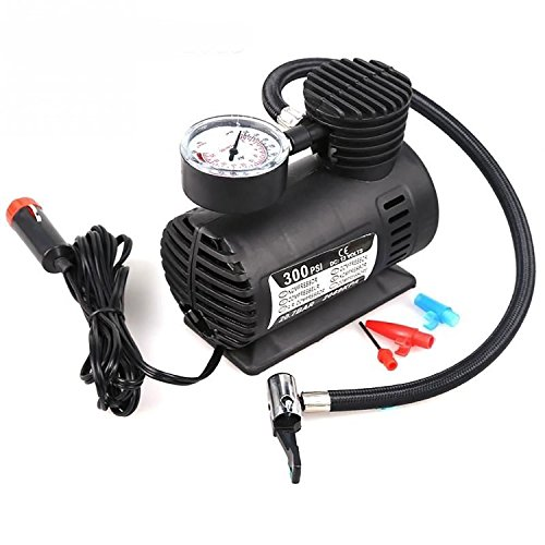Dreamworld Air Pump Compressor 12V Electric Car Bike Tyre Tire Inflator