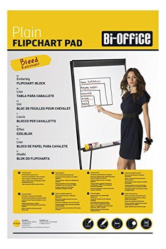 Bi-Office Blocco Per Lavagna di Carta Euro, Bianca, 50 Fogli per Blocco, Lato Superiore Perforato,...