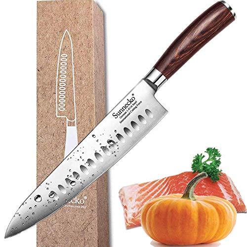 Sunnecko Coltello da Cucina 20cm Coltello da Cuoco Professionale Coltello da Chef - Acciaio...