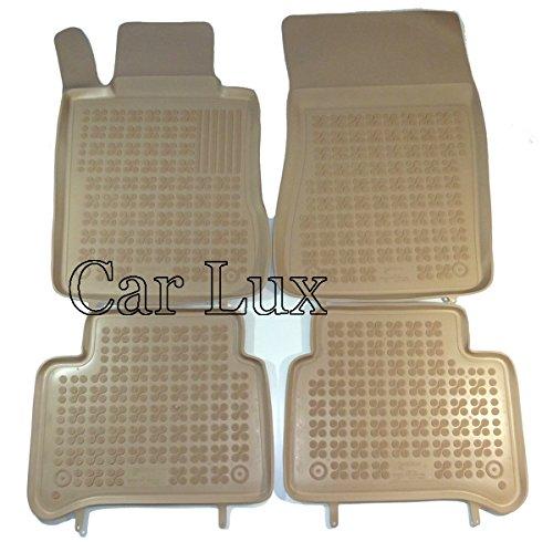 Car Lux nar00861-Tappeti Tappetini di gomma su misura a vasca 3d Beige Bordo Alto