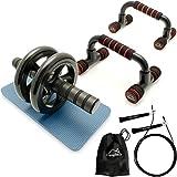 CampTeck U6759 'Kit Entrenamiento' - Push Up Bars Soporte Para Flexiones De Brazo e AB Roller Doble...