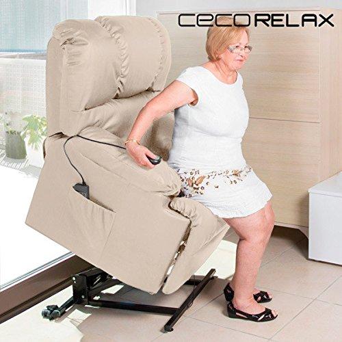 Poltrona Relax Alzapersona con Massaggio Craftenwood 6012 Colore  Beige