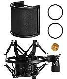 PEMOTech Shock Mount, Metallene Maschenweite & Schaum-Schicht mic pop filter vom mikrofon isolierung schild für 46mm-53mm Mic zum Beispiel AT2020, AT2050, AT2035, MXL 440, BM800, CAD U