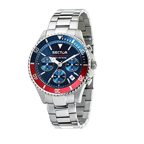 SECTOR NO LIMITS Orologio Cronografo Quarzo Uomo con Cinturino in Acciaio Inox R3273661008