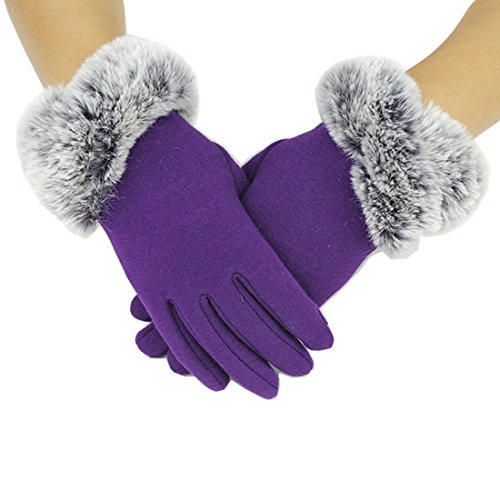 Yingniao Guanti Touch Donna Eleganti Vintage Gloves Driving per mobile Autunno e Inverno Sport...
