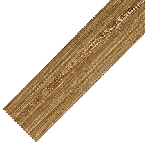 [neu.holz] Pacchetto risparmio laminato vinilico (4m²) Autoadesivo Bambù (28 tavole = 3,92 m²)...