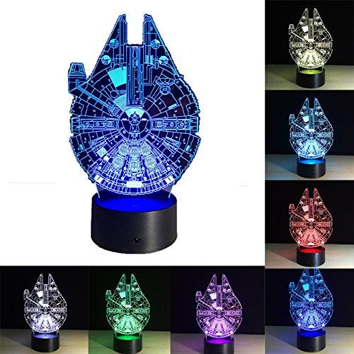 3D Lampada Illusion,7 colore Star Wars Lampada Luci Notturne LED Lampade Toy, 7 Colori Cambiano la...