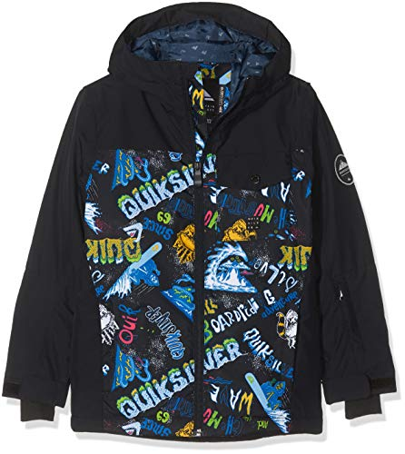 Quiksilver Mission Block Youth, Giacca da Neve Bambini e Ragazzi, Black/A Night At The Mountain,...