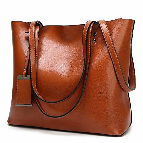 886084957029 Womens Soft Leather Handbags Large Capacity Retro Vintage Top-Handle Casual Tote  Shoulder Bags - SixtySomething - Over Sixty Lifestyle Magazine