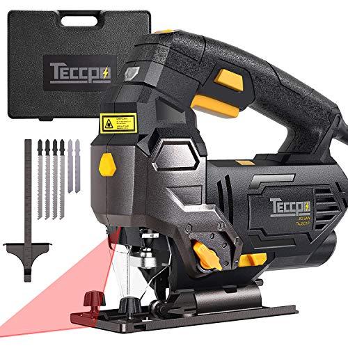 Seghetto Alternativo, TECCPO 800W 3000SPM Seghe con guida Laser, Lame da 6 Pezzi, Custodia da...