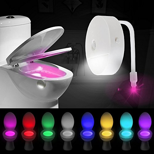 Luce Notturna da Toilette, Vimmor 8 Colori Lgienici WC Bango LED Lampada Notturne con Sensore di...