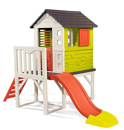 This playhouse is suitable for kids 3+ years and they can grow with it.