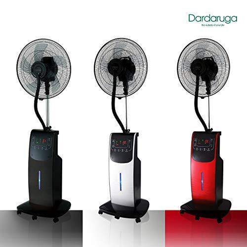DARDARUGA Digitaler Ventilator mit Zerstäuber Wasser WFD rot