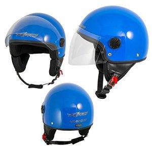 Motorradhelm Motorrad Roller Jet Helm Demi Mit Viser SonicMoto 9