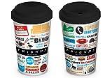 Pyramid International Friends-Tazza di Ceramica da Viaggio, iconografica, Multicolore, Unica [Lingua Inglese]