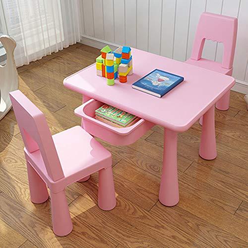 Zh Piccolo Tavolo Quadrato E Sedie Per Bambinicon Immagazzinaggio Del Cassetto Set Tavolo E Sedie Blu E Rosabambino Tavolo Di Attività In Plastica
