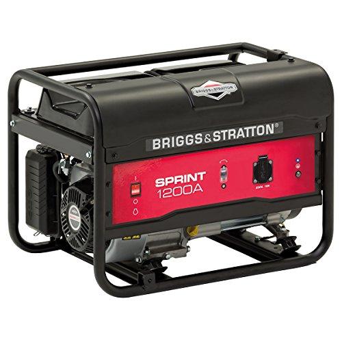 Briggs & Stratton SPRINT 1200A Generador portátil de gasolina - Potencia en marcha de 900/Potencia inicial de 1125, 900 W, Negro