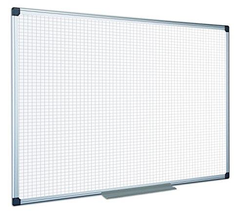 Bi-Office MA0321170 Lavagna non Magnetica a Quadretti Maya, 900x600 mm, Bianco