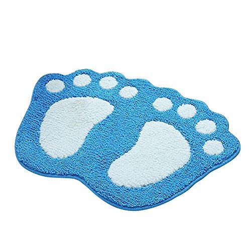 SHANNA Tappetino Antiscivolo per Vasca da Bagno, Doccia, tappeti Area tappeti Tappeto Cute Big Feet...