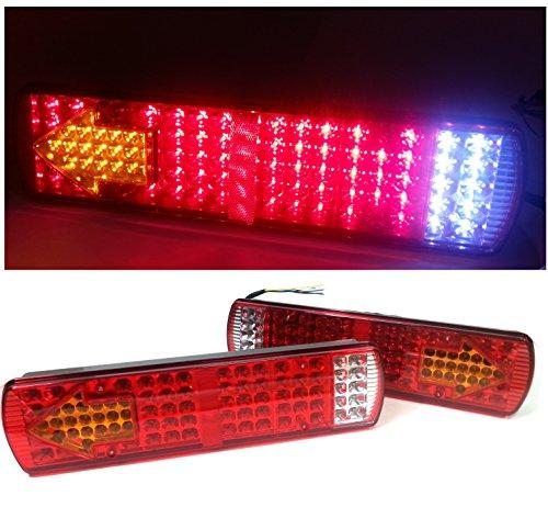 Coppia di luci da 24 V, con 84 LED, multifunzione: luce di stop, indicatore di direzione,...