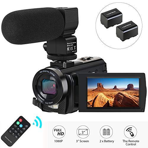 Videocamera Fotocamera Digitale con Microfono 1080P 30FPS 24MP Zoom Digitale 16X 3 '' LCD Schermo...