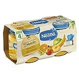 Nestlé Selección Tarrito de puré de fruta, variedad Frutitas del Campo, para bebés a partir de 4 meses - Tarritos 2 x 200 gr