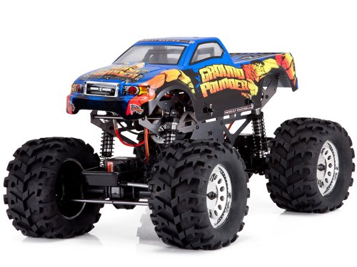 Redcat Racing Ground Pounder 3-Channel Electric Monster Truck Blue 1/10 Scale