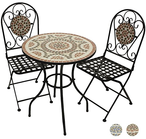 Woodside Terracotta Mosaic Garden Table And Folding Chair Set Review