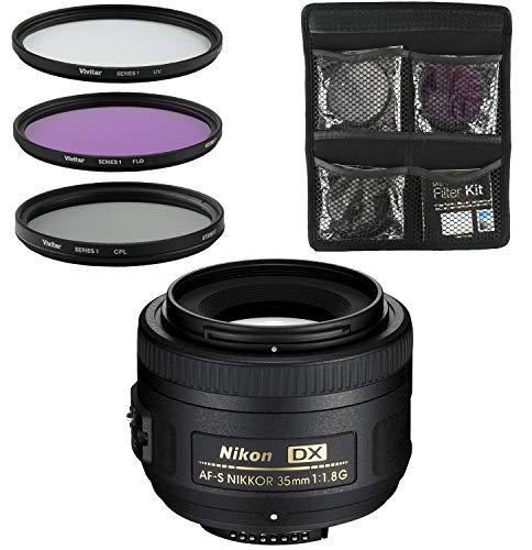 Nikon Obiettivo - Nikkor AF-S DX 35mm f/1,8G - Lente per Fotocamera Digitale Reflex + Set di Filtri...