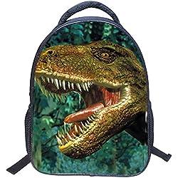 JIAN YA NA 3D Bolsas de escuela de dinosaurios Mochilas de nylon para niños de jardín de infantes Mochila de viaje mochila de deportes Bolsas de hombro para muchas actividades al aire libre