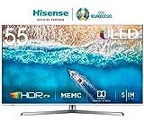 "Hisense H55U7B, Smart TV ULED 4K Ultra HD, Dolby Vision HDR, HDR 10+, Audio Dolby Atmos, Ultra Dimming, 802.11ac, Dual-Band (2.4G and 5G) Ethernet RJ-45 HDMI USB Bluetooth, 55"", Negro/Gris Metalizado"