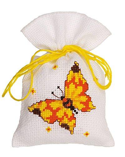 Vervaco PP bolsa mariposas y juego de punto de cruz, Multi-color