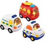 VTech Toot Toot Driver Ambulance/ Fire Engine/ Police Car (Pack of 3)
