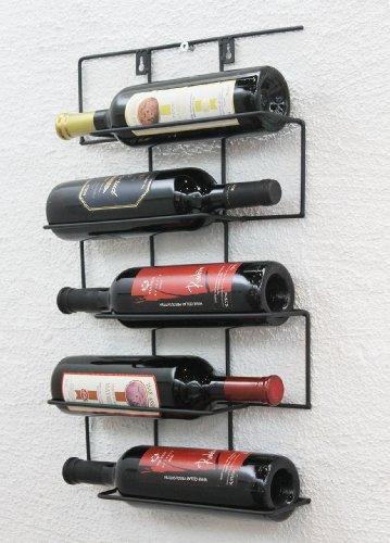 DanDiBo Scaffale vino 'Cinco' 53cm HX13615 metallo Porta bottiglie Supporto-bottiglie Scaffale a...