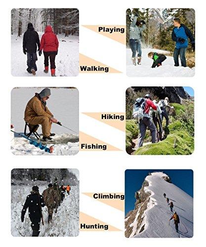 19 Dientes de Acero Inoxidable de Crampones Antideslizante Raquetas de Nieve,al Aire Libre de Esqui de Senderismo en Tipos Variedad de Terreno - by EnergeticSkyTM 6
