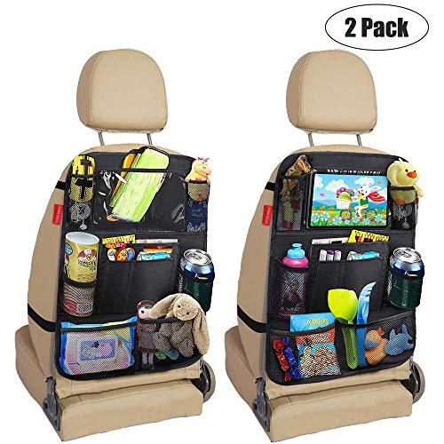 Awroutdoor Protezione Sedili Auto Bambini,2 pezzi Protezione Sedile Autoasca dell' Organizzatore Tasca iPad Proteggi Sedile Organizzatore Sedile Posteriore Impermeabile