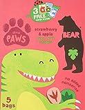 Bear Fruit Paws Dino Strawberry & Apple Multipack 5 x 20g